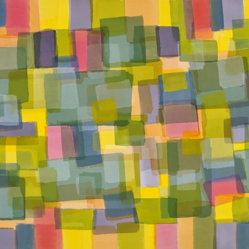 Spring Garden Radiant Light Series Acrylic on canvas 43 x 58 inches