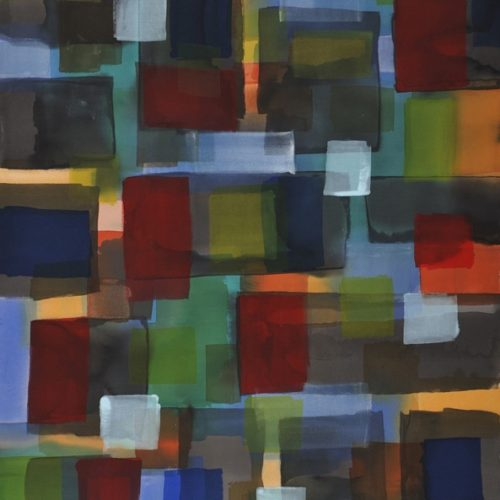 At Dusk in the City Radiant Light Series Acrylic on canvas