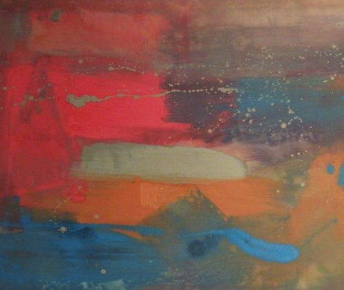 Mystic Series Acrylic on canvas 39 x 72.5 inches