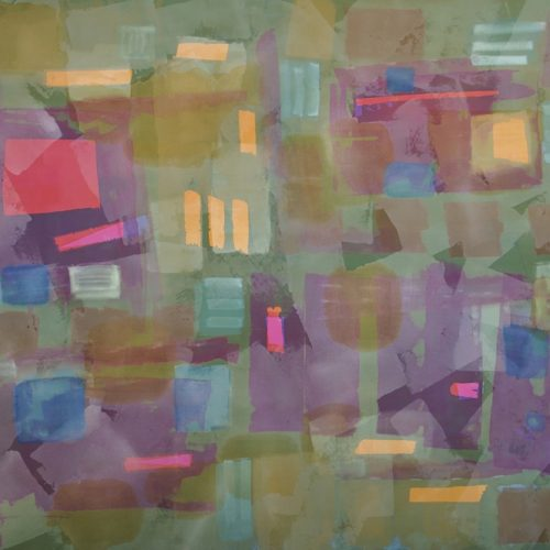 Summer Fun Radiant Light Series Acrylic on canvas 57 x 68 inches