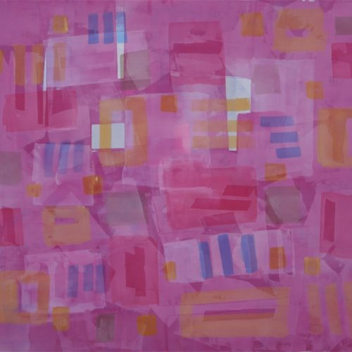 Festive Dance Radiant Light Series Acrylic on canvas 57 x 67 inches