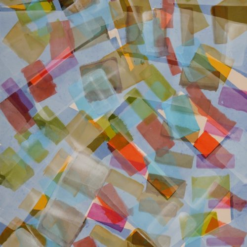 """PEDIE WOLFOND, STACCATO, 2013 acrylic on raw canvas, 67 X 44"""""""