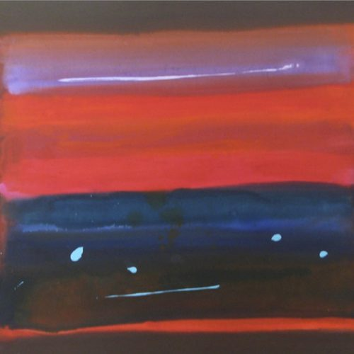 Beach Dream Series: Bordered Abstractions Acrylic on canvas 56.75 x 45.75 inches