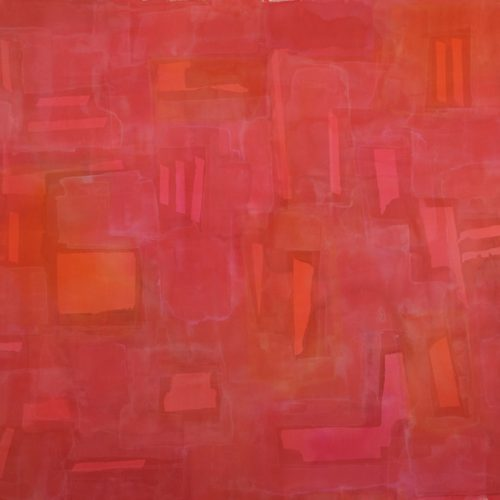 Red Series Acrylic on canvas 45 x 57 inches