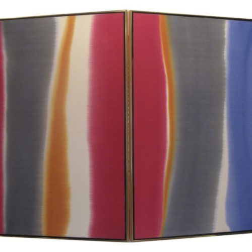 V Series Acrylic on canvas 49.5 x 71 x 15 inches