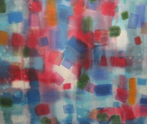 White Nights Paths of Light Series Acrylic on canvas 76 x 51 inches