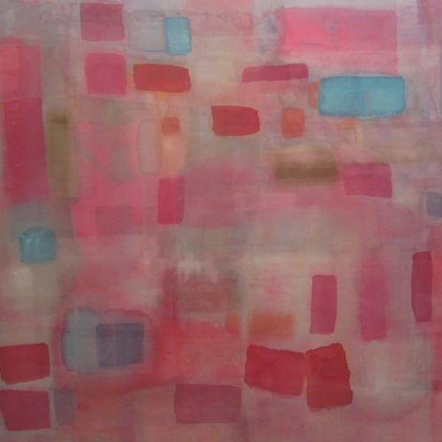 Dancing Colour Paths of Light Series Acrylic on canvas 49 x 57.5 inches