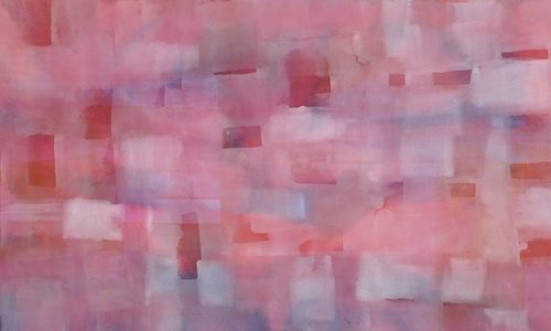 Mellow Paths of Light Series Acrylic on canvas 57 x 27 inches