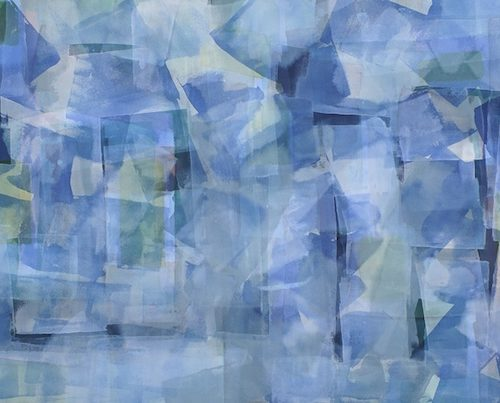 Winter Storm Paths of Light Series Acrylic on canvas 57 x 36 inches